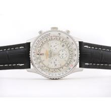 Replique Breitling Navitimer Chronographe de travail avec cadran blanc - bâton de marquage - Attractive Breitling Navitimer montre pour vous 26866