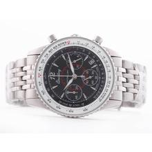 Replique Breitling Montbrillant de travail Chronographe Cadran Noir-Taille-Dame - Attractive Breitling Montbrillant Montre pour vous 26862