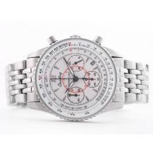 Replique Breitling Montbrillant de travail Chronographe Cadran Blanc-Taille-Dame - Attractive Breitling Montbrillant Montre pour vous 26859