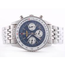 Replique Breitling Navitimer Chronograph Blue Dial de travail avec le bâton de marquage-Taille-Dame - Attractive Breitling Navitimer montre pour vous 26855