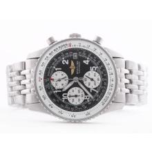 Replique Breitling Navitimer de travail avec cadran noir arabe Marquage-Taille-Dame - Attractive Breitling Navitimer montre pour vous 26854
