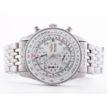 Replique Breitling Navitimer Chronographe de travail cadran blanc avec marquage arabe-Taille-Dame - Attractive Breitling Navitimer montre pour vous 26853