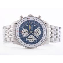 Replique Breitling Navitimer Chronograph Blue Dial travail avec l'arabe Marquage-Taille-Dame - Attractive Breitling Navitimer montre pour vous 26852