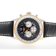 Replik Breitling Navitimer Working Chronograph Two Tone Case with Black Dial-Number Marking – Attractive Breitling Navitimer Watch for You 26814