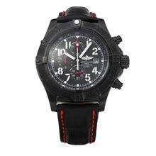 Replique Breitling Avenger Skyland-Chronographe PVD affaire-bracelet en cuir - Attractive Montre Breitling Avenger Skyland pour vous 26812
