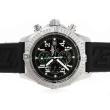 Replique Breitling Super Avenger de travail cadran noir avec aiguilles vertes - Attractive Breitling Super Avenger montre pour vous 26731