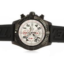 Replique Breitling Avenger Super-Chronographe PVD affaire avec cadran blanc Aiguilles Rouges - Attractive Montre Breitling Super Avenger pour vous 26730