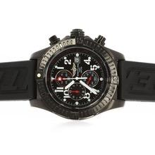 Replique Breitling Super Avenger travail Chronographe PVD affaire cadran noir avec aiguilles rouges - Attractive Montre Breitling Super Avenger pour vous 26727