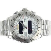 Replique Breitling Emergency Lecteur numérique avec cadran blanc S / S - Attractive montre Breitling Emergency pour vous 26696