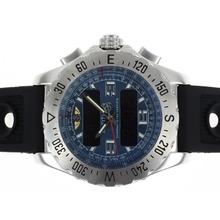 Replique Breitling Emergency Lecteur numérique avec cadran bleu-bracelet en caoutchouc - Attractive montre Breitling Emergency pour vous 26685