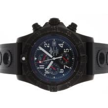 Replique Breitling Avenger Skyland-Chronographe PVD affaire avec cadran noir-Bracelet Caoutchouc - Attractive Montre Breitling Avenger Skyland pour vous 26683