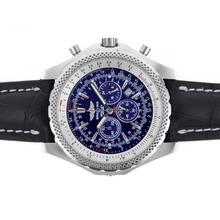 Replique Breitling for Bentley Motors travail Chronographe avec cadran bleu-bracelet en cuir - Attractive Breitling Bentley Regarder pour vous 26646