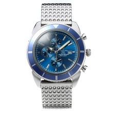 Replique Breitling Super Ocean travail Chronographe avec cadran bleu et lunette S / S - Attractive Breitling Super Ocean Watch pour vous 26596