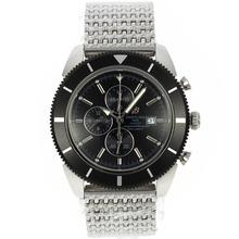 Replique Breitling Super Ocean travail Chronographe avec cadran noir et lunette S / S - Attractive Breitling Super Ocean Watch pour vous 26595