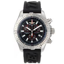 Replique Breitling Colt travail Chronographe avec cadran noir-Bracelet Caoutchouc - Attractive montre Breitling Colt pour vous 26588