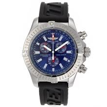 Replique Breitling Colt travail Chronographe avec cadran bleu-bracelet en caoutchouc - Attractive montre Breitling Colt pour vous 26587