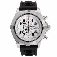 Replique Breitling Avenger Skyland travail Chronographe avec cadran blanc-bracelet en caoutchouc - Version 49mm - Attractive Montre Breitling Avenger Skyland pour vous 26581