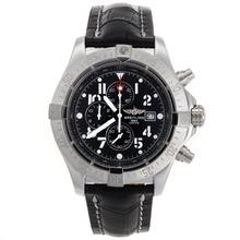 Replique Breitling Avenger Skyland travail Chronographe avec cadran noir-bracelet en cuir - Version 49mm - Attractive Montre Breitling Avenger Skyland pour vous 26580