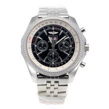 Replique Breitling Bentley 6,75 chronographe Big Date suisse Valjoux 7750 Mouvement avec cadran noir S / S - Attractive Breitling Bentley Regarder pour vous 26569