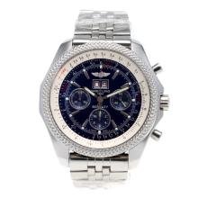 Replique Breitling Bentley 6,75 chronographe Big Date suisse Valjoux 7750 Mouvement avec cadran bleu S / S - Attractive Breitling Bentley Regarder pour vous 26568
