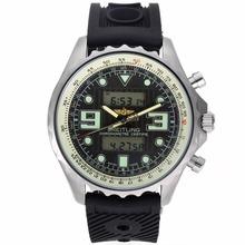 Replique Breitling Emergency Displayer numérique avec cadran noir-Bracelet Caoutchouc - Attractive montre Breitling Emergency pour vous 26539