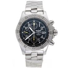 Replique Breitling Avenger Skyland chronographe suisse Valjoux 7750 Mouvement avec cadran noir S / S - Attractive Montre Breitling Avenger Skyland pour vous 26506