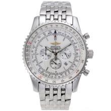 Replique Breitling Navitimer de travail Chronographe avec cadran blanc Version S/S-46mm - Attractive Breitling Navitimer montre pour vous 26498