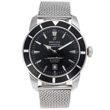 Replique Breitling Super Ocean Swiss ETA 2824 Mouvement avec cadran noir S / S - Attractive Breitling Super Ocean montre pour vous 26497