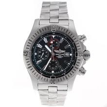 Replique Breitling Super Avenger Chronograph Valjoux 7750 Swiss marqueurs de bâton Mouvement avec cadran noir - Belle montre Breitling Super Avenger pour vous 26471