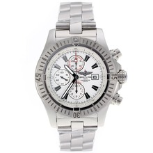 Replique Breitling Super Avenger Chronograph Valjoux 7750 Swiss marqueurs de bâton Mouvement avec cadran blanc - Belle montre Breitling Super Avenger pour vous 26470
