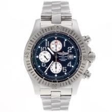 Replique Breitling Super Avenger Chronograph Valjoux 7750 Swiss marqueurs numéro de mouvement avec cadran bleu - Belle montre Breitling Super Avenger pour vous 26469