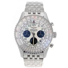 Replik Breitling Cosmonaute Chronograph Swiss Valjoux 7750 Movement with White Dial-S/S – Attractive Breitling Cosmonaute Watch for You 26397