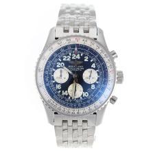 Replique Chronographe Breitling Cosmonaute suisse Valjoux 7750 Mouvement avec cadran noir-S / S - Montre Breitling Cosmonaute attrayant pour vous 26396