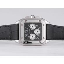 Replique Cartier Santos 100 automatique avec cadran noir - Attractive Cartier Santos montre pour vous 29621