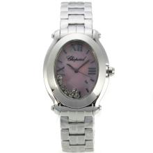 Replik Chopard Happy Sport with Purple MOP Dial S/S-Lady Size 32789