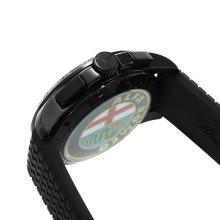 Replique Chopard Alfa Romeo-Chronographe PVD affaire avec cadran noir-Bracelet Caoutchouc - Attractive Chopard Alfa Romeo montre pour vous 32733
