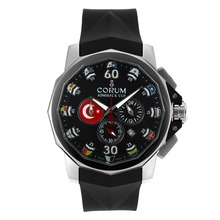 Replique Coupe Corum Admiral Chronograph de travail avec cadran noir-Bracelet Caoutchouc - Regarder la Coupe Corum Admiral attrayant pour vous 37282