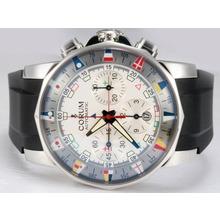 Replique Corum Admiral Cup Chronograph Valjoux 7750 Mouvement suisse AR Revêtement avec cadran blanc-bracelet en caoutchouc - Regarder la Coupe Corum Admiral attrayant pour vous 37370