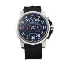 Replique Coupe Corum Admiral Chronograph de travail avec cadran noir-Bracelet Caoutchouc - Regarder la Coupe Corum Admiral attrayant pour vous 37245