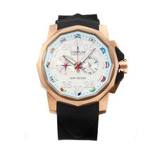 Replique Corum Admiral Cup Chronograph de travail boîtier en or rose avec cadran blanc-bracelet en caoutchouc - Regarder la Coupe Corum Admiral attrayant pour vous 37243