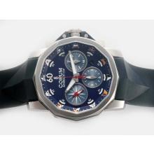 Replique Corum Admiral Chronographe Challenge Cup suisse Valjoux 7750 Mouvement avec cadran bleu - Regarder la Coupe Corum Admiral attrayant pour vous 37366