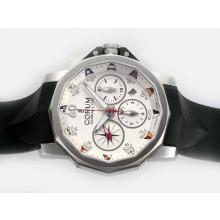 Replique Corum Admiral Chronographe Challenge Cup suisse Valjoux 7750 Mouvement avec cadran blanc - Regarder la Coupe Corum Admiral attrayant pour vous 37364