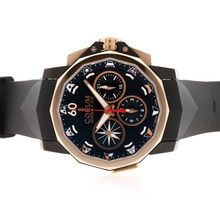 Replique Corum Admiral Cup Chronograph Valjoux 7750 Mouvement suisse PVD affaire avec cadran noir-28800bph - Regarder la Coupe Corum Admiral attrayant pour vous 37341