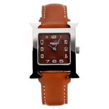 Replique Hermes H, notre café avec bracelet en cuir d'accès à distance à café - Attractive Hermes H, notre montre pour vous 36701