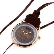 Replique Hermes Arceau Promenade de Longchamp Rose Gold Watch Pocket Case avec 36669 Dial café