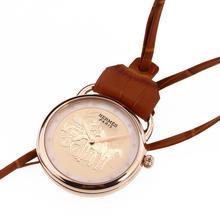 Replique Hermes Arceau Promenade de Longchamp en or rose Montre de poche avec cadran champagne 36666