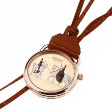 Replique Hermes Arceau Amazones Rose Gold Pocket Watch Case avec Rose d'or Cadran 36665
