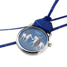 Replique Hermes Arceau Pocket Watch Amazones avec cadran bleu 36660