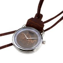 Replique Hermes Arceau Pocket Watch Promenade de Longchamp 36659 avec cadran café
