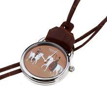 Replique Hermes Arceau Pocket Watch avec Amazones 36658 Dial café